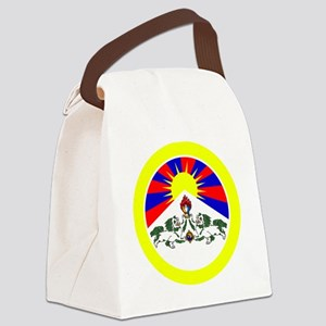 btn-flag-tibet Canvas Lunch Bag