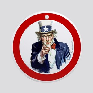 btn-patriot-want-u Round Ornament