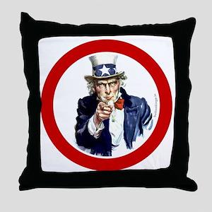 btn-patriot-want-u Throw Pillow