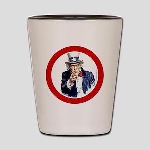 btn-patriot-want-u Shot Glass