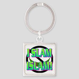 I SLAM ISLAM(white) Square Keychain