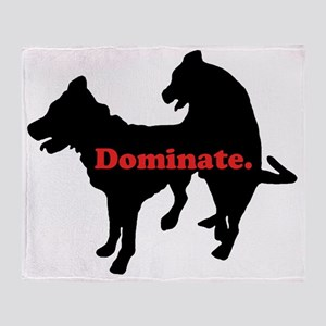 dominate Throw Blanket