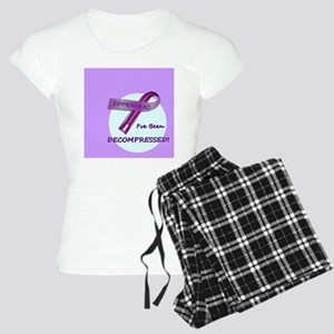 2-ButtonIveBeenDecompressed Women's Light Pajamas