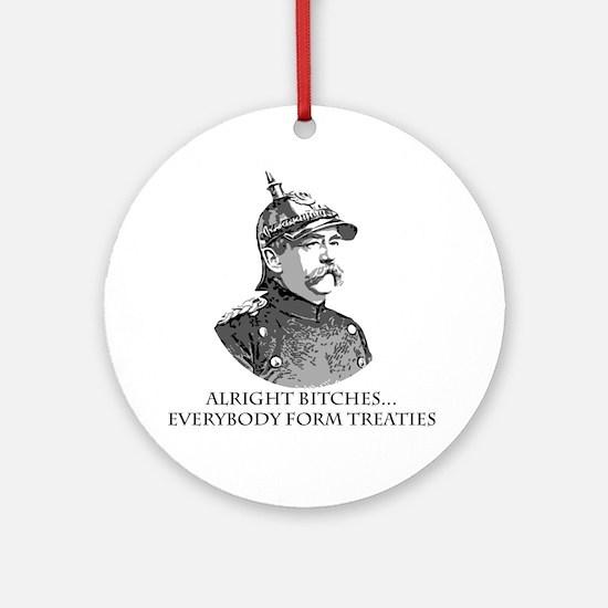 Bismarck_Treaties Round Ornament