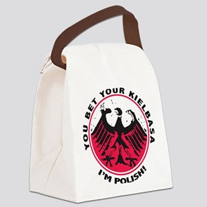 2-PolishYouBetWht Canvas Lunch Bag