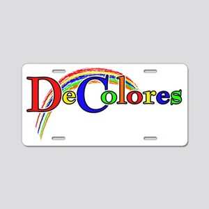 Decolores for Dark Aluminum License Plate