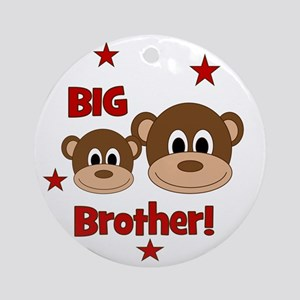 Monkey_BigBrother Round Ornament