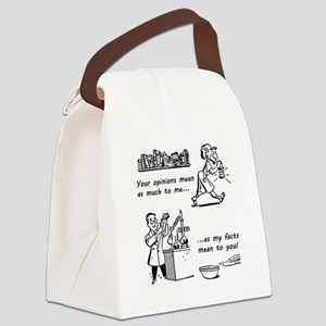 OpVsFact_clear Canvas Lunch Bag