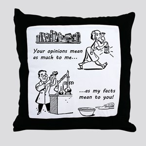 OpVsFact_clear Throw Pillow