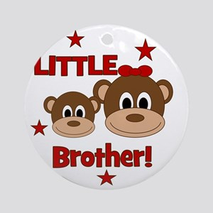 Monkey_LittleBrother_girl Round Ornament