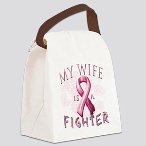 My Wife is a Fighter Pink Canvas Lunch Bag