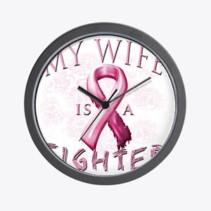 My Wife is a Fighter Pink Wall Clock