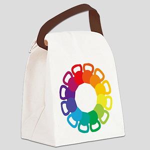 color_wheel_bells Canvas Lunch Bag