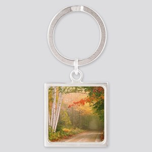 Cilley Hill Road Square Keychain