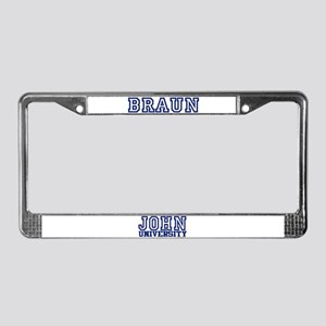BRAUN University License Plate Frame