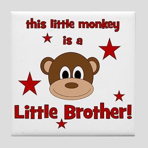 thislittlemonkey_littlebrother Tile Coaster