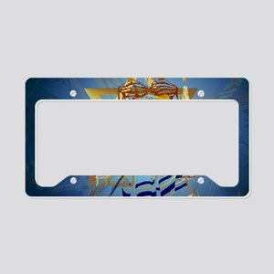 Pass Over Collage Blue-Yardsi License Plate Holder