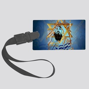 Pass Over Collage Blue-Yardsign Large Luggage Tag