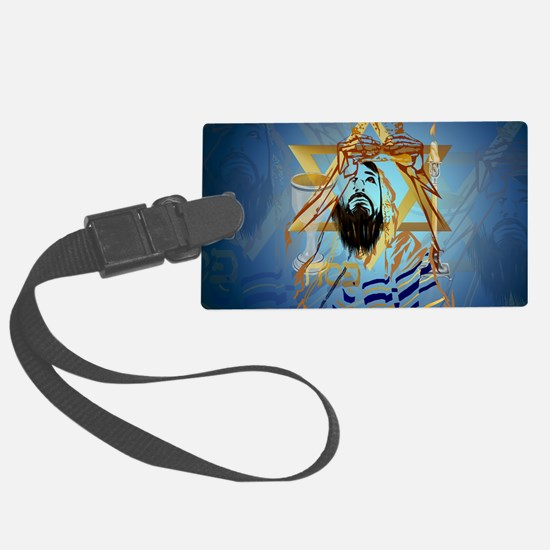 Pass Over Collage Blue-Yardsign Luggage Tag