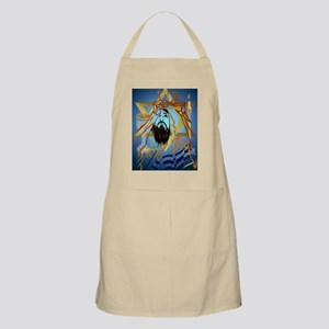 Pass Over Collage Blue Poster Apron