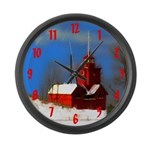 Big Red Lighthouse, Holland, MI Large Wall Clock
