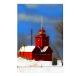 Big Red Lighthouse, Holla Postcards (Package of 8)
