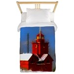 Big Red Lighthouse, Holland, MI Twin Duvet Cover