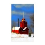 Big Red Lighthouse, Holl Sticker (Rectangle 10 pk)
