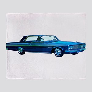 1963 Plymouth Sport Fury Throw Blanket