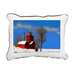 Big Red Lighthouse, Holl Rectangular Canvas Pillow