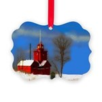 Big Red Lighthouse, Holland, MI Picture Ornament