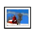 Big Red Lighthouse, Holland, MI Framed Panel Print