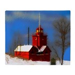 Big Red Lighthouse, Holland, MI Throw Blanket