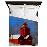 Big Red Lighthouse, Holland, MI Queen Duvet