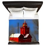 Big Red Lighthouse, Holland, MI King Duvet