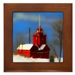 Big Red Lighthouse, Holland, MI Framed Tile