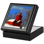Big Red Lighthouse, Holland, MI Keepsake Box