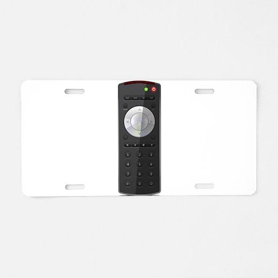 Universal TV Remote Control Aluminum License Plate