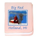 Big Red Lighthouse, Holland, MI baby blanket