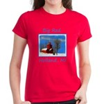 Big Red Lighthouse, Holland, Women's Dark T-Shirt