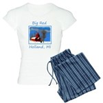 Big Red Lighthouse, Holland Women's Light Pajamas