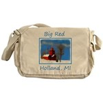 Big Red Lighthouse, Holland, MI Messenger Bag