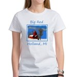 Big Red Lighthouse, Women's Classic White T-Shirt
