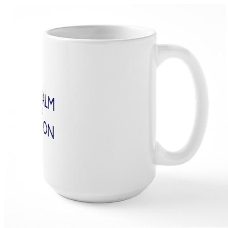 Ceramic Traval Mug - 300dpi - Just Text Large Mug
