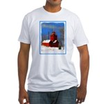 Big Red Lighthouse, Holland, MI Fitted T-Shirt