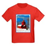 Big Red Lighthouse, Holland, MI Kids Dark T-Shirt