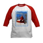 Big Red Lighthouse, Holland, MI Kids Baseball Tee