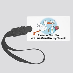 stork baby guat 2 Large Luggage Tag