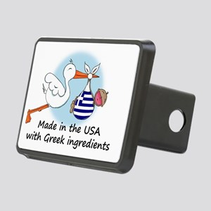 stork baby greece 2 Rectangular Hitch Cover