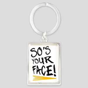 Sos your face Portrait Keychain